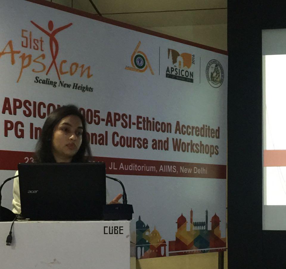 Dr. Jyoti Gupta at APSICON