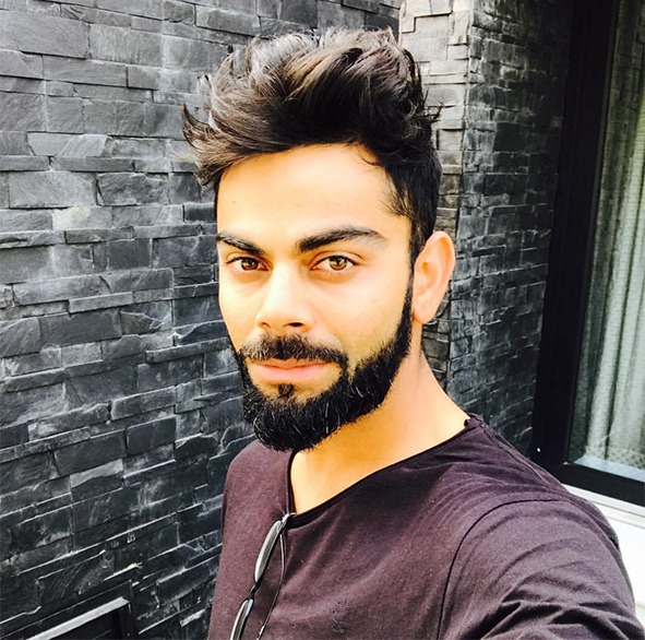 virat kohli beard mustache latest style
