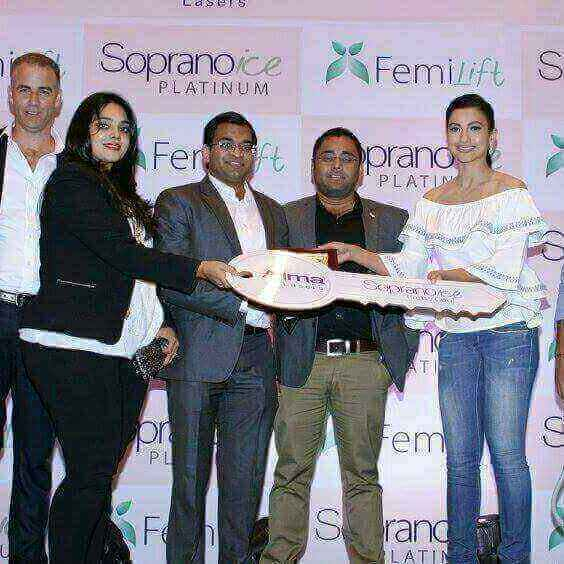 DermaClinix Directors with Gauhar Khan